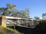 Picture relating to Gayndah - titled 'Upside down railway bridge'