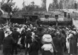 Picture relating to Yarraman - titled 'Opening of the railway station at Yarraman, 1913'