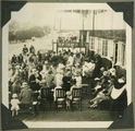 Picture relating to Yeppoon - titled 'Tea on the school verandah at St Faith's Anglican Girls School, Yeppoon, 1926'