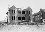 Picture relating to Red Hill - titled 'Church of England Boys Grammar School, Head Masters Residence under construction,. Flinders Way, Red Hill.'