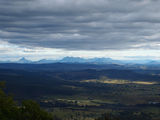 Picture relating to Mount Tamborine - titled 'Border Ranges from Mt. Tamborine'