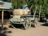 Picture relating to Echuca - titled 'Old Wool Cart'