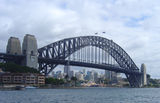 Picture relating to Circular Quay - titled 'Harbour Bridge from ferry leaving Circular Quay'