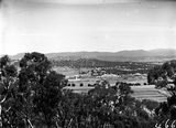 Picture relating to Parliament House - titled 'Distant view of Old Parliament House from Mount Ainslie'