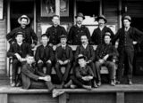Picture relating to Charleville - titled 'Portrait of the Charleville Railway Station staff, ca. 1900'