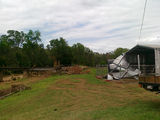 Picture of / about 'Murphys Creek' Queensland - Murphys Creek SES garage & sheds after the 2011 flood