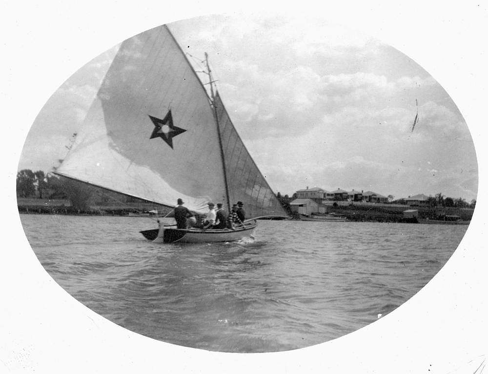 Picture of / about 'Brisbane' Queensland - Sailing on the Brisbane River, Brisbane, Queensland, ca.1915