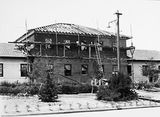 Picture relating to Reid - titled 'Gorman House, construction of additions, Ainslie Avenue, Reid.'
