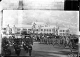 Picture relating to Parliament House - titled 'Royal Visit, May 1927 - copy of painting outside Old Parliament House pomp and ceremony of the opening.'