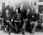 Picture relating to Ipswich - titled 'Henry Smart (Harry) Cribb with a group of Ipswich businessmen'