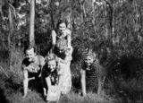 Picture of / about 'Brisbane' Queensland - Five Latvian girls in the bush, Brisbane, 1951