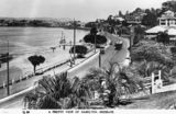 Picture relating to Kingsford Smith Drive - titled 'Tram trundles down Kingsford Smith Drive, Hamilton, Brisbane, ca. 1928'