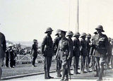 Picture relating to Duntroon - titled 'ANZAC Day parade, Old Parliament House -Inspection of Guard of Honour of Duntroon Royal Military College Cadets by Govenor General, Lord Stonehaven.'