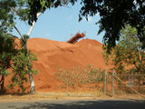 Picture relating to Weipa Mine - titled 'Weipa Mine Stockpile'