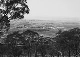 Picture relating to Red Hill - titled 'View from Red Hill over Manuka and Kingston to Duntroon. Collins Park in the centre.'