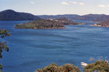 Picture relating to Hawkesbury River - titled 'View south toward Milson Island and Prickly Point from above Bar Point'