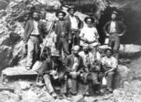 Picture relating to Blinman Mine - titled 'Blinman Mine - Miners in the Open Cut Section'