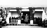 Picture relating to Chapman - titled 'Opening of Telopea Park School by Mr Austin Chapman, MHR.'