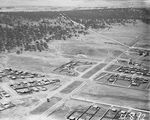 Picture relating to Ainslie - titled 'Ariel view over Braddon looking east along Limestone Avenue, Ainslie Hotel on right.'