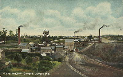 Picture of / about 'Gympie' Queensland - Mining industry at Gympie, Queensland