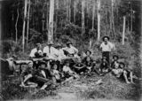 Picture relating to Queensland - titled 'Workers in the bush, 1910-1920'