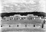 Picture relating to Parkes - titled 'Old Parliament House and Parkes Place from the North'