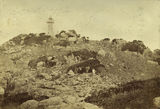 Picture relating to Port Denison - titled 'Stone Island Lighthouse in Bowen Harbour, 1876'